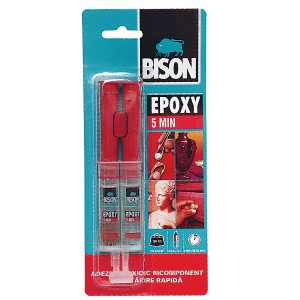Adeziv Bison Epoxy 5 min - Seringa Dubla