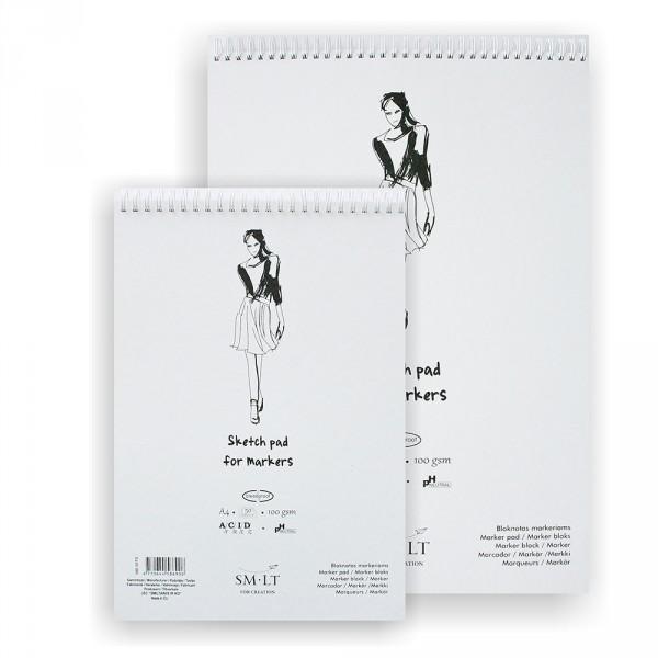 Bloc desen Sketch pads Authentic Marker 100 gr