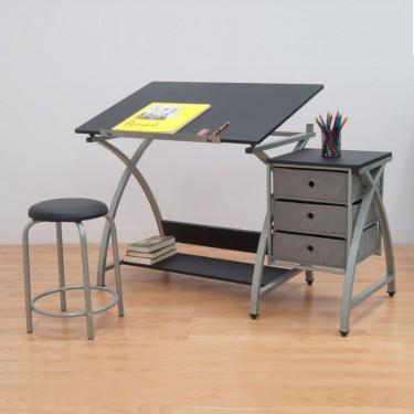 masa de lucru Comet cu scaun pentru graficieni