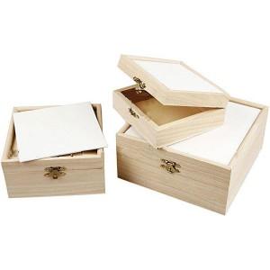 Set 3 cutii 57599/1 + cartoane panzate