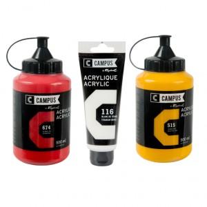 Culori acrilice Campus 100 ml si 500 ml.