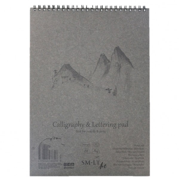 Bloc pt caligrafie Calligraphy & Lettering pad Authentic in folder