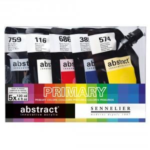 Set 5 culori acrilice Abstract 120ml
