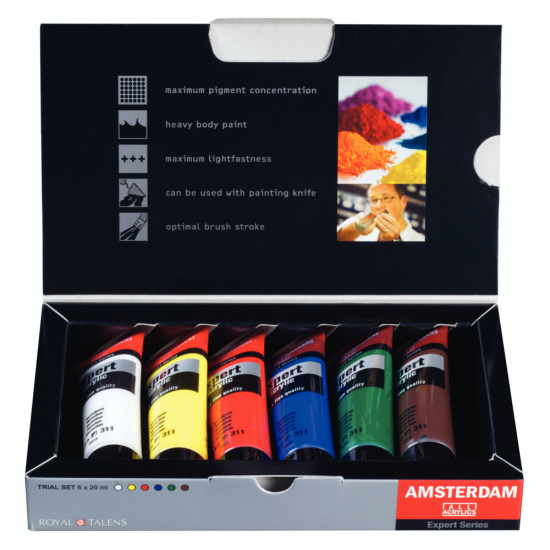 Set culori acrilice Amsterdam Expert 6 x 20 ml.