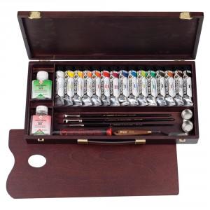 Set culori acrilice Rembrandt Acrylic Box Professional