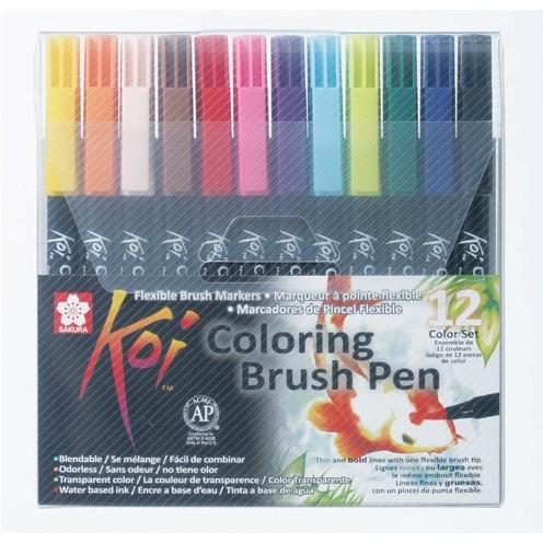 Set 12 carioci Sakura Koi Color Brush