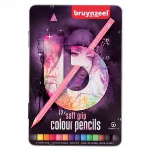Set creioane colorate Soft Grip 12 Light