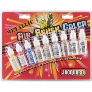 Set culori aerograf Jacquard Airbrush Exciter Metallic