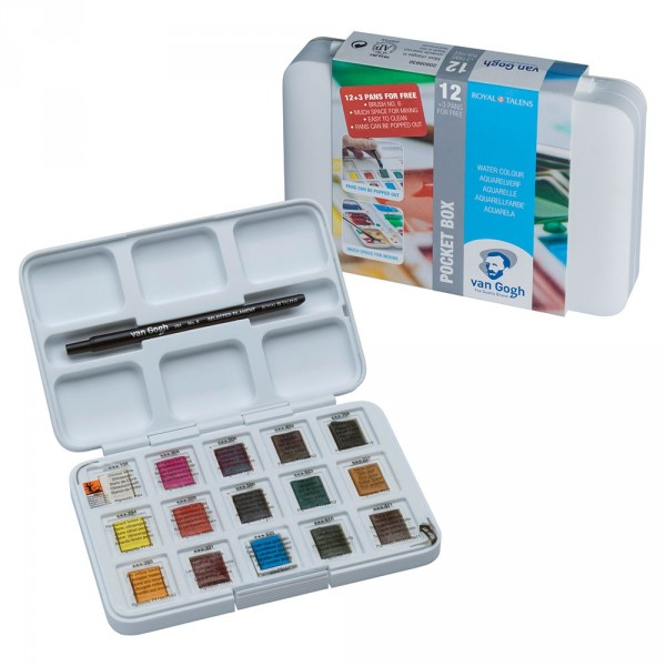 Set acuarele Van Gogh Pocket Box 12 + 3