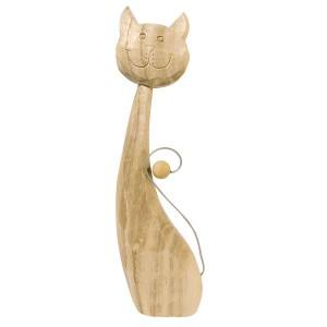 Pisica din lemn - Caroline