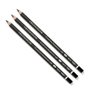 Creioane cu mina din carbune