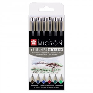 Set Pigma Micron Earth Colors 6