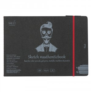 Caiet de schite #authenticbook Black 18x165gr