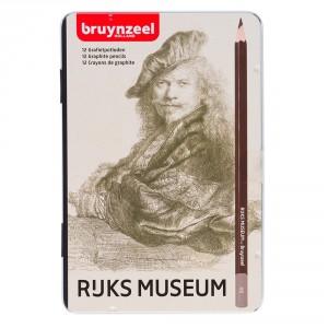 Set creioane grafit Bruynzeel Rembrandt 12