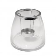Vaza din sticla cu suport pt. lumanari