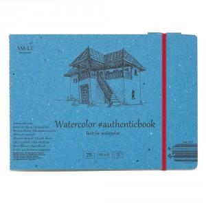 Caiet de desen #authenticbook Watercolor 12x280gr