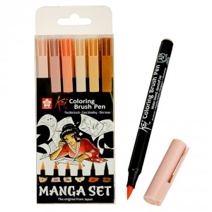 Set carioci Sakura Manga Koi Color Brush 6