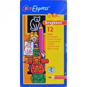 Set 12 creioane colorate Bruynzeel Color Super Pencile
