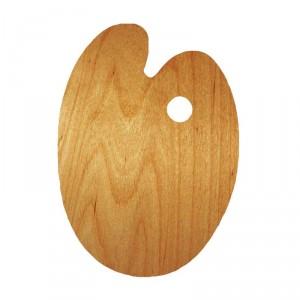 Paleta pictura ovala lemn tratat