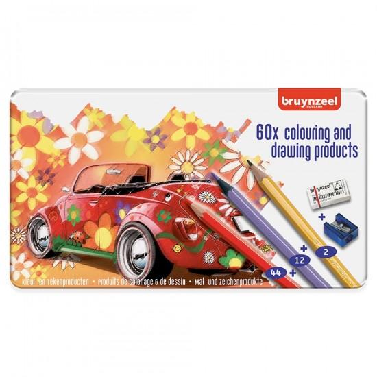 Set creioane colorate Beetle Set 60