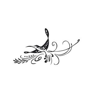 Stampila silicon 4 x 7cm. - colibri