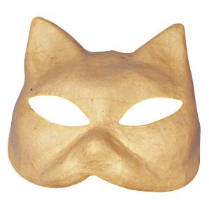 Masca papier mache - pisica
