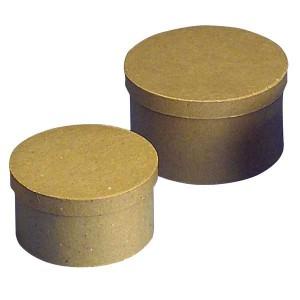 Cutii rotunde din papier mache
