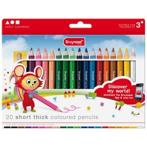 Set 20 creioane colorate Bruynzeel Short Thick
