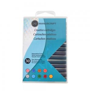 Set 30 rezerve cu cerneala Creative - Mix color