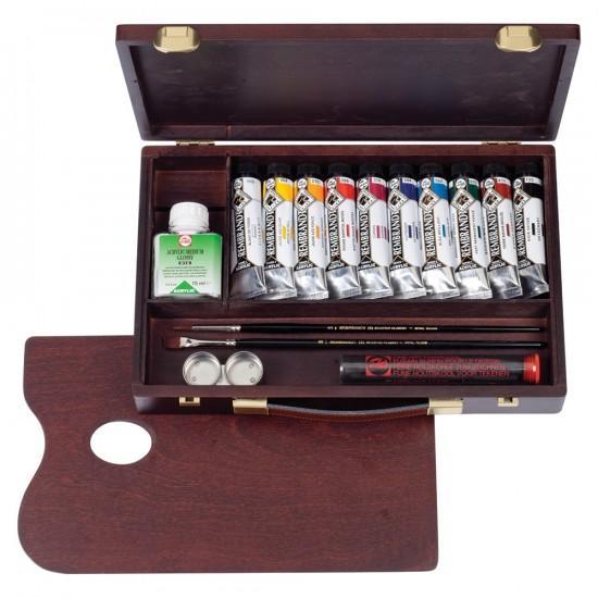 Set culori acrilice Rembrandt Acrylic Box Traditional