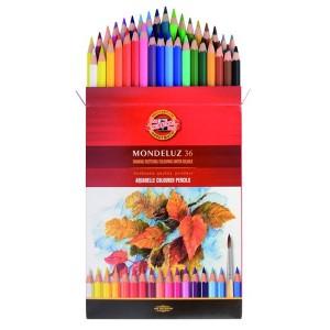 Set creioane colorate acuarelabile Mondeluz
