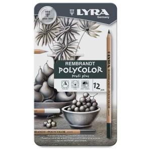 Set creioane pastel gras Polycolor