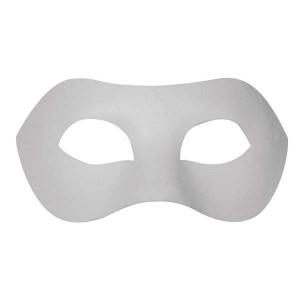 Masca venetiana din papier mache alba - domino
