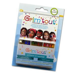 Set 12 creioane face painting Grimtout - Blister