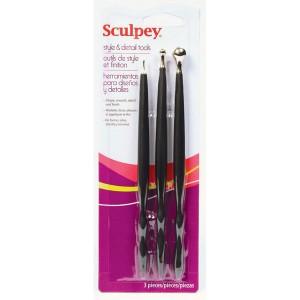 Set 3 Instrumente pt modelaj Sculpey