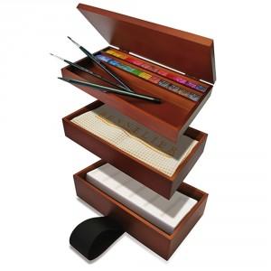 Set acuarele Luncheon 24+paleta+2 pensule