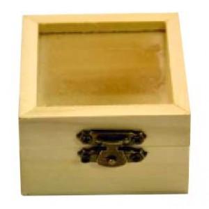 Cutie lemn mini cu sticla