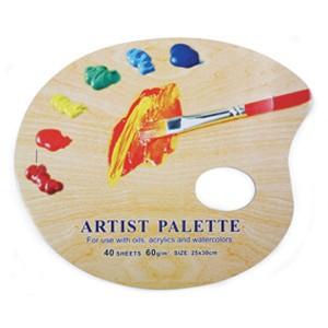 "Paleta pictura ovala din hartie - 10x12"""