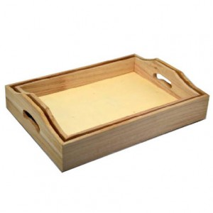 Set 2 tavi din lemn cu maner 355050