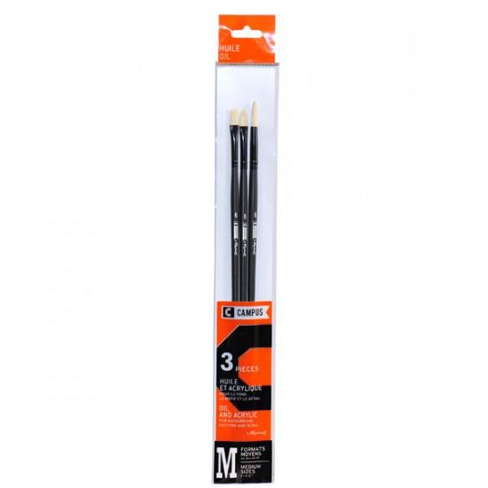 Set 3 pensule Raphael Oil M