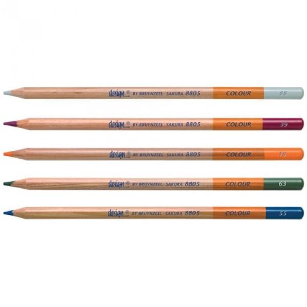 Creioane colorate Bruynzeel Design Colour Pencil