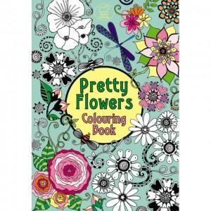 Carte de colorat - Pretty Flowers