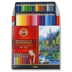 Seturi creioane acuarelabile Mondeluz cu pensule