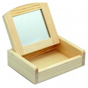 Cutie din lemn cu oglinda
