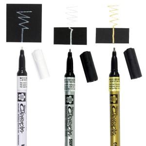 Markere cu vopsea metalizate Sakura Calligrapher