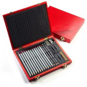 Set creioane pt desen Renesans in caseta din lemn