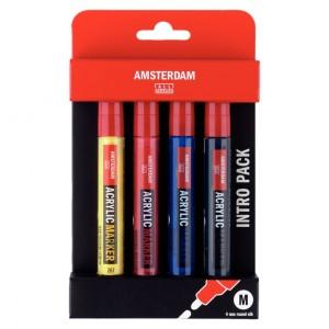 Set markere acrilice Amsterdam Marker Basic Set 4 M