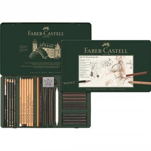Set Pitt Monochrome grafit+pastel 33 buc Faber Castell