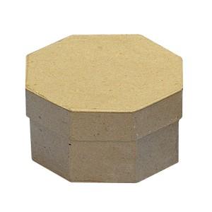 Cutie hexagonala din papier mache
