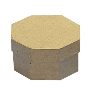 Cutie hexagonala din papier mache 11,5 x 11,5 cm